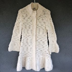 Free People knit snap jacket